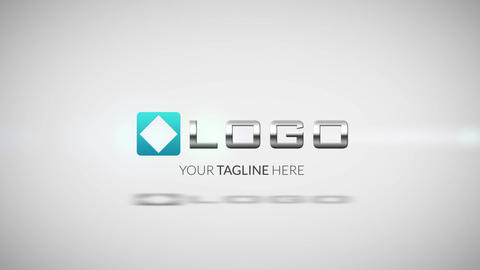 Business Logo Stripes Spin Animation Light Text Reveal Intro After Effects Template
