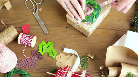 Gift wrapping Footage