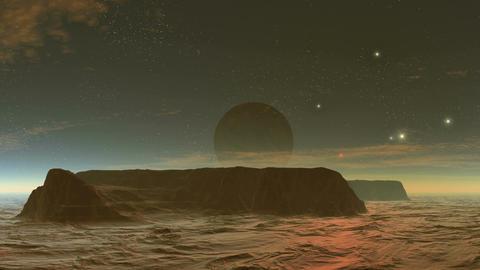 Dark moon over the plateau Animation