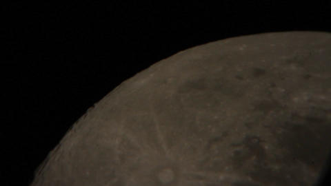 Close up face seen the moon 9570 Footage