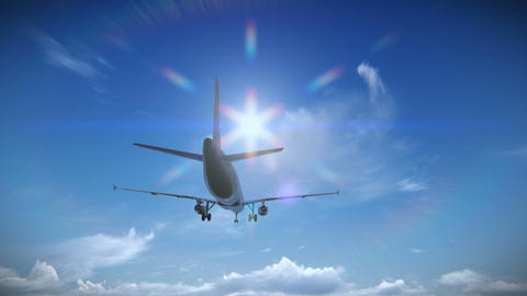 Airplane Taking Off Footage stock footage