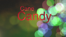 Candy Cane Green Bokeh Animation
