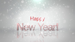 Happy New Years Snow Animation