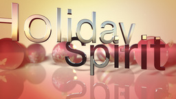 Holiday Spirit Text On Seasonal Background stock footage