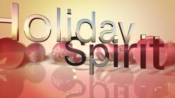 Holiday spirit text on seasonal background Animation