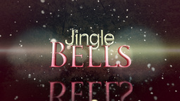 Jingle Bells Holiday message clip Animation