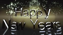 Happy New Year seasonal clip Animation