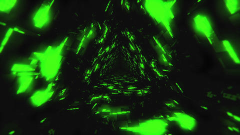 VJ Loops Energy Triangular Tunnels 2