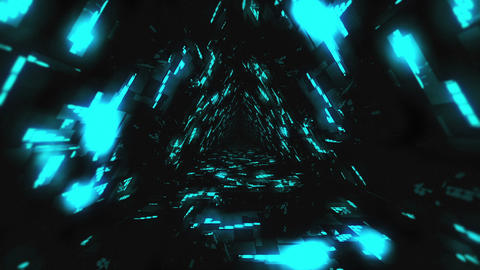 VJ Loop Blue Energy Tunnel Animation