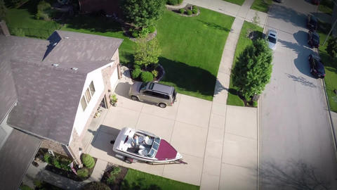 Residential Houses From Above Overhead Aerial View stock footage