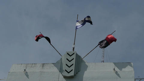 The Sandinista National Liberation Front flags Live Action