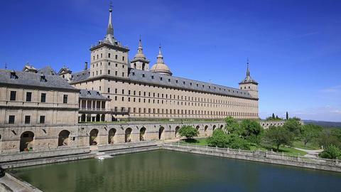Royal Monastery of San Lorenzo de El Escorial near Madrid, Spain Footage