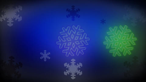 RGB snowflakes for a Vj_colorized glow Animation