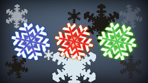 RGB snowflakes for a Vj_orignial Animation