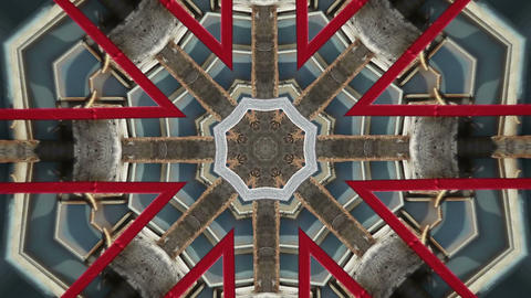 VJ Trance Kaleidoscope stock footage