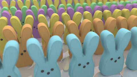 Marshmallow Bunny Treats CG動画素材