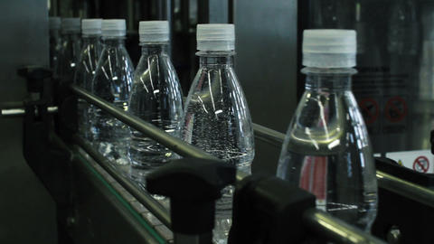 Bottled Water Production Line stock footage