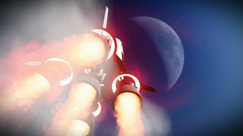 Rocket launch to the space footage Footage