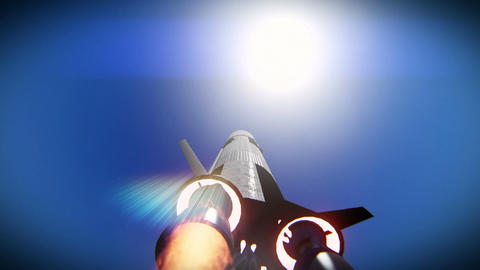 Rocket launch to the sun footage Live Action