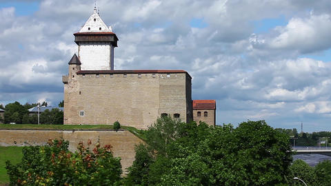 Narva castle panorama Footage