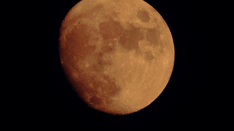 Ultra Close-up Shot of a Very Large Moonrise Footage