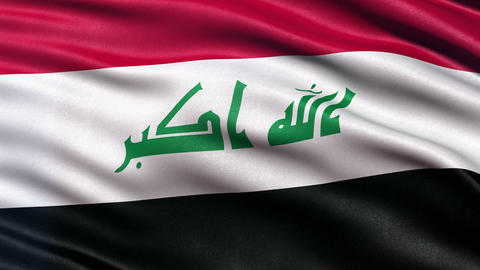 4K Iraq flag seamless loop Ultra-HD Animation