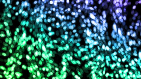 falling bokeh green flakes flare Animation