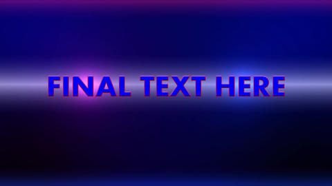 5 flashing text animation (no plugin) After Effects Template