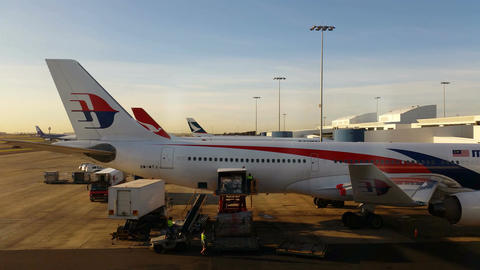 4K Malaysia Airlines - Airport Terminal Departure Gate Footage