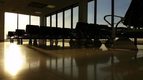 4K Airport Terminal Departure Gate Footage