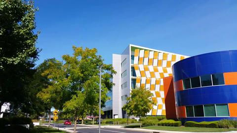 Establishing shot modern architecture building Live Action