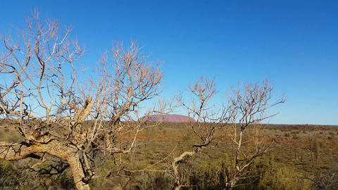 Uluru, Ayers Rock Outback Australian Landmark Red Desert Landscape 4K Live Action
