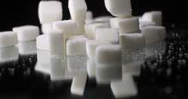 Palm Sugar Cane Cubes Glucose Sweetener Slowmo Footage