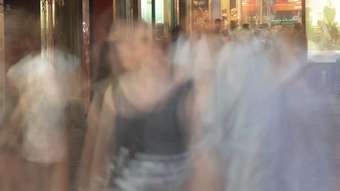 Commuter City Street Crowd Time Lapse - 4K Footage
