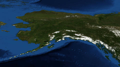 Alaska From Space Slow Zoom stock footage