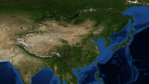 China from space - slow zoom Footage