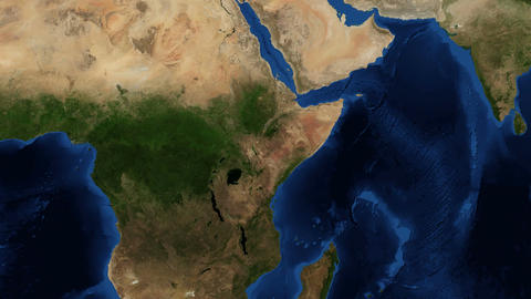 East Africa from space zoom Live Action