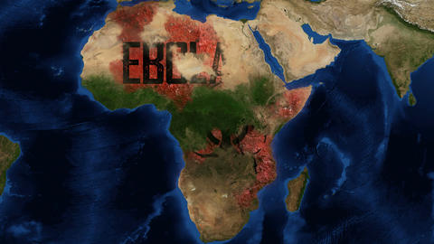 4k Ebola Virus Africa Animation Footage