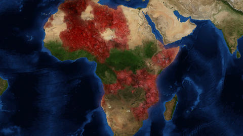 Ebola Africa zoom 4K Footage
