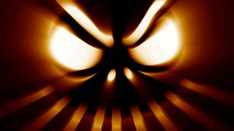 Spooky Halloween jack-o-lantern evil scary horror face Footage