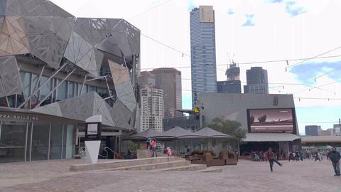 4K Melbourne City Victoria Australia Footage