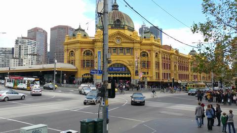 4K Melbourne City Victoria Australia - Flinders Street Station Footage