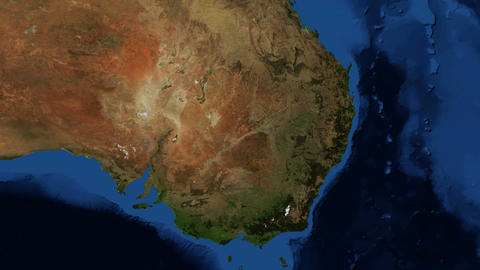 NSW - New South Wales Australia from space - zoom Footage