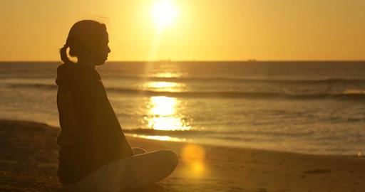 Yoga spiritual meditation outdoors wellness health and lifestyle Live Action