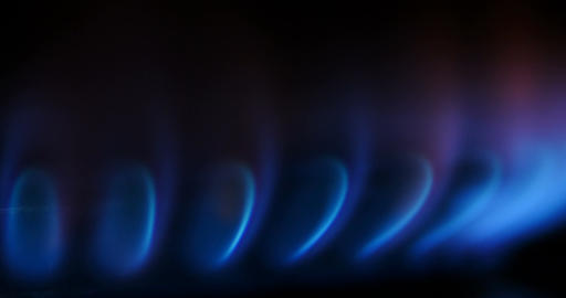 Natural Gas fossil fuel - Kitchen stove Gas burne Footage