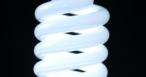 energy saving fluorescent light bulb Footage
