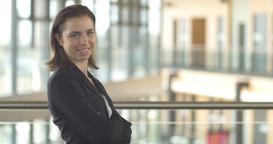 Smiling corporate businesswoman successful confident professional portrait Footage