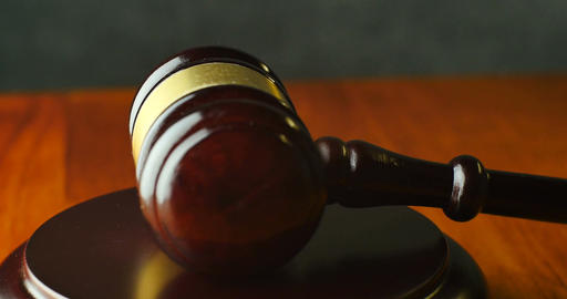 Law Justice Litigation Concept With Gavel And Hammer stock footage