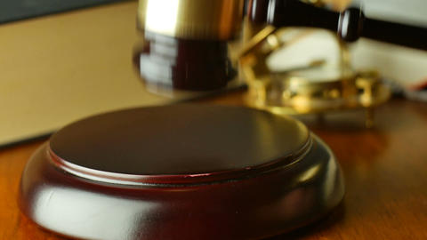 Court legal law system mallet of judge legal code of judgment Footage