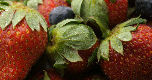 Fruit health fresh natural strawberry and berries Footage